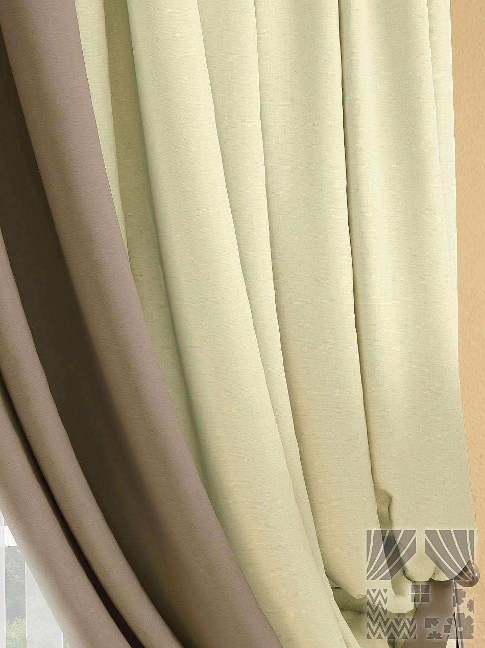 Шторы ТомДом Классические шторы Фонти Цвет: Бежевый/Капучино шторы томдом классические шторы мелета к цвет бежевый