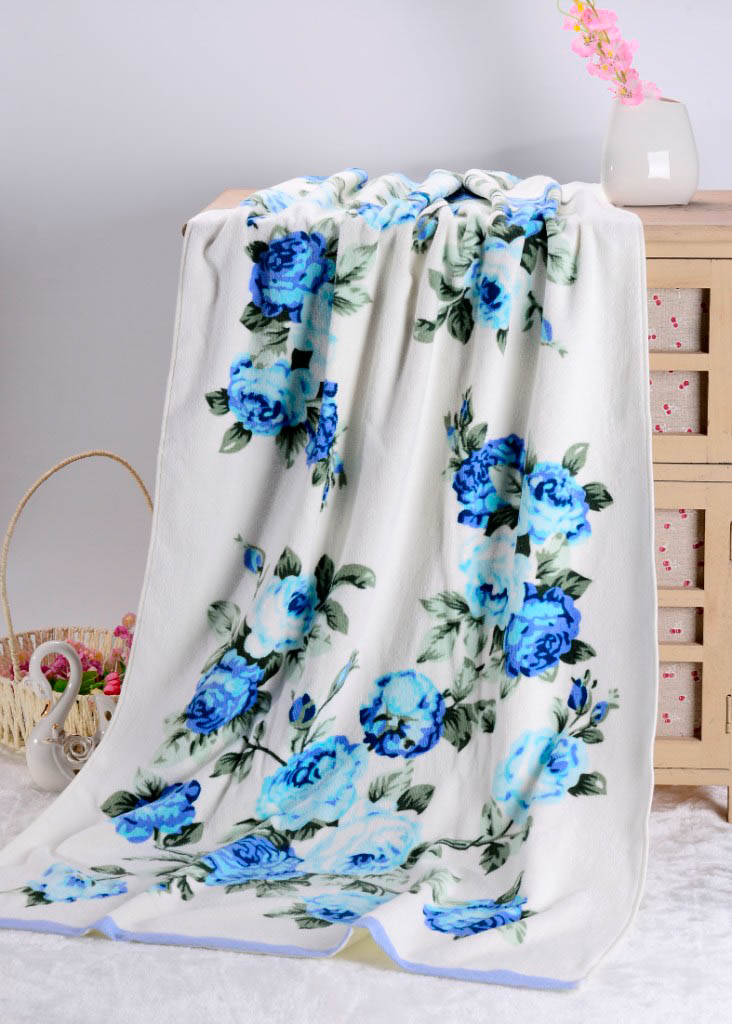 Полотенца Valtery Полотенце Rosy Цвет: Голубой (70х140 см) rosy rim