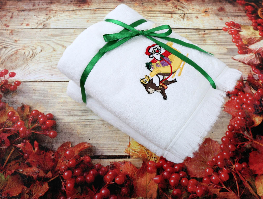 где купить  Полотенца IRYA Полотенце Дед Мороз (50х90 см - 2 шт)  по лучшей цене