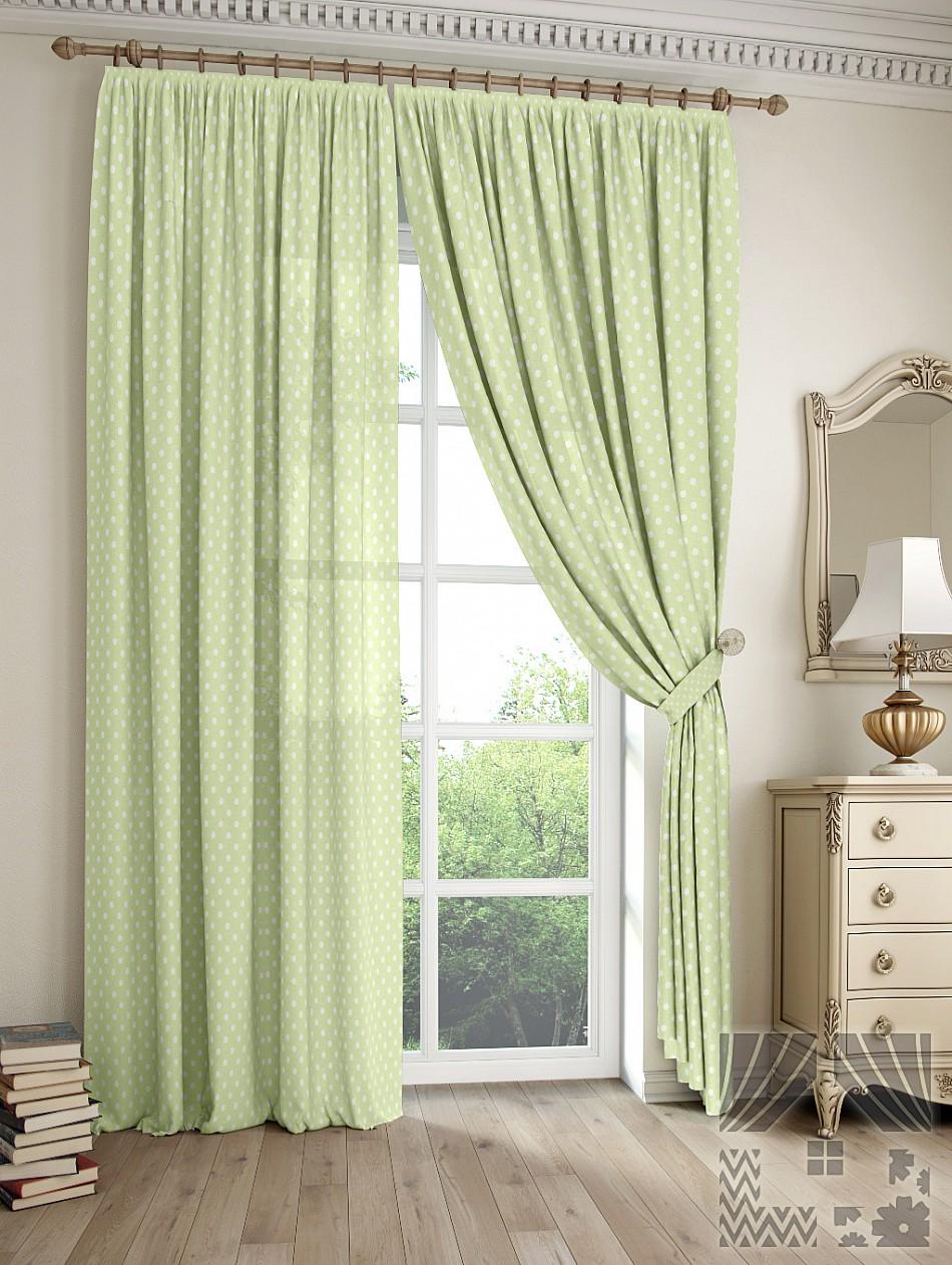 Шторы ТомДом Классические шторы Дрош Цвет: Зеленый томдом томдом классические шторы луала