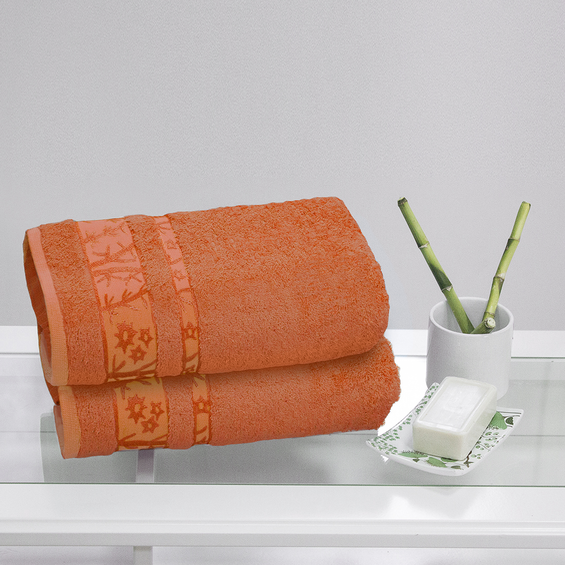 Полотенца Juanna Полотенце Софт Цвет: Оранжевый (50х90 см - 2 шт) набор из 3 полотенец merzuka sakura 50х90 2 70х140 8432 оранжевый