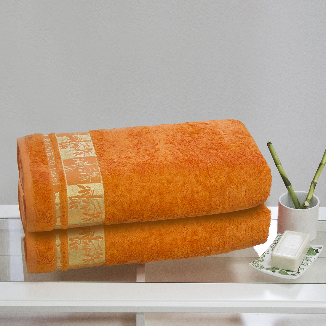Полотенца Juanna Полотенце Meteor Цвет: Оранжевый (70х140 см - 2 шт) набор из 3 полотенец merzuka sakura 50х90 2 70х140 8432 оранжевый