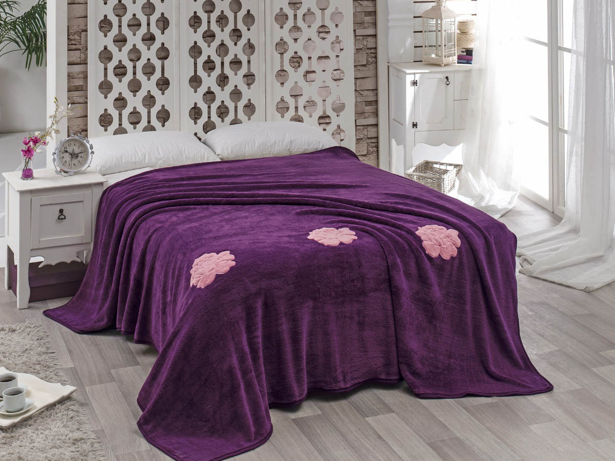 где купить  Покрывало Karna Покрывало Rose Цвет: Фиолетовый (200х220 см)  по лучшей цене