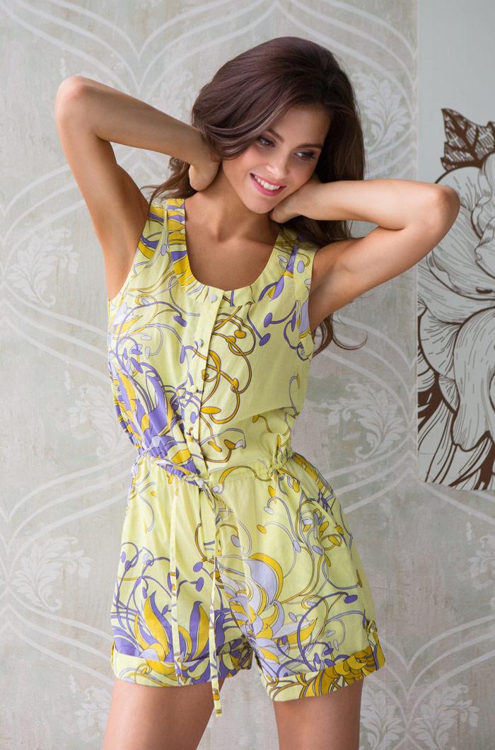 цена на Костюмы для дома и отдыха Mia-Mia Комбинезон пляжный Limonchella Цвет: Желтый (xS)