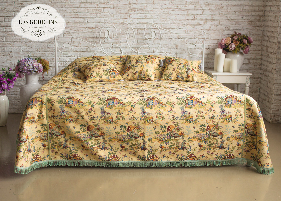 где купить  Детские покрывала, подушки, одеяла Les Gobelins Детское Покрывало на кровать Souris Drole (160х230 см)  по лучшей цене
