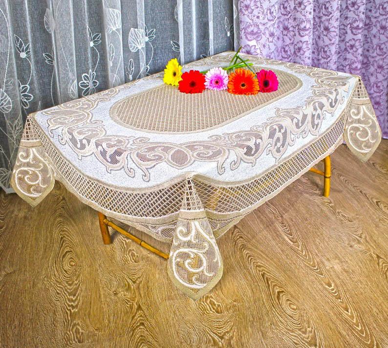 Haft Haft Скатерть Amoz Цвет: Кремовый/Золотой (120х160 см)