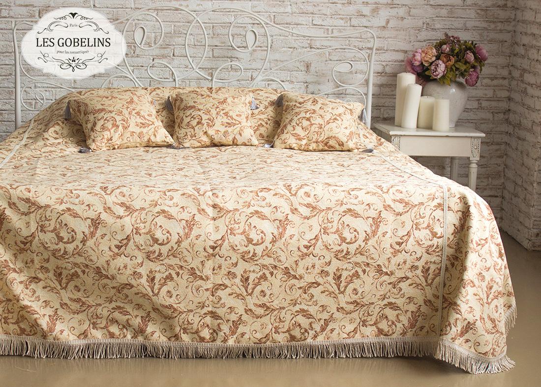 Les Gobelins Покрывало на кровать Feuilles Beiges (130х220 см)