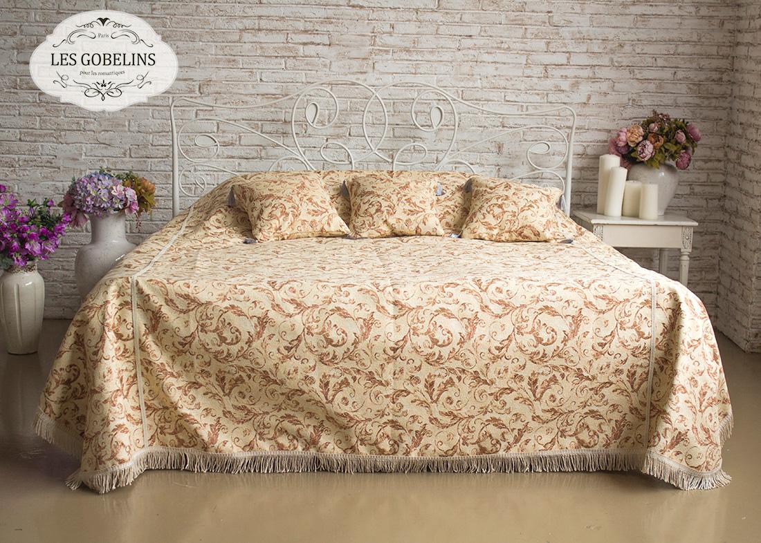 где купить  Покрывало Les Gobelins Покрывало на кровать Feuilles Beiges (260х240 см)  по лучшей цене
