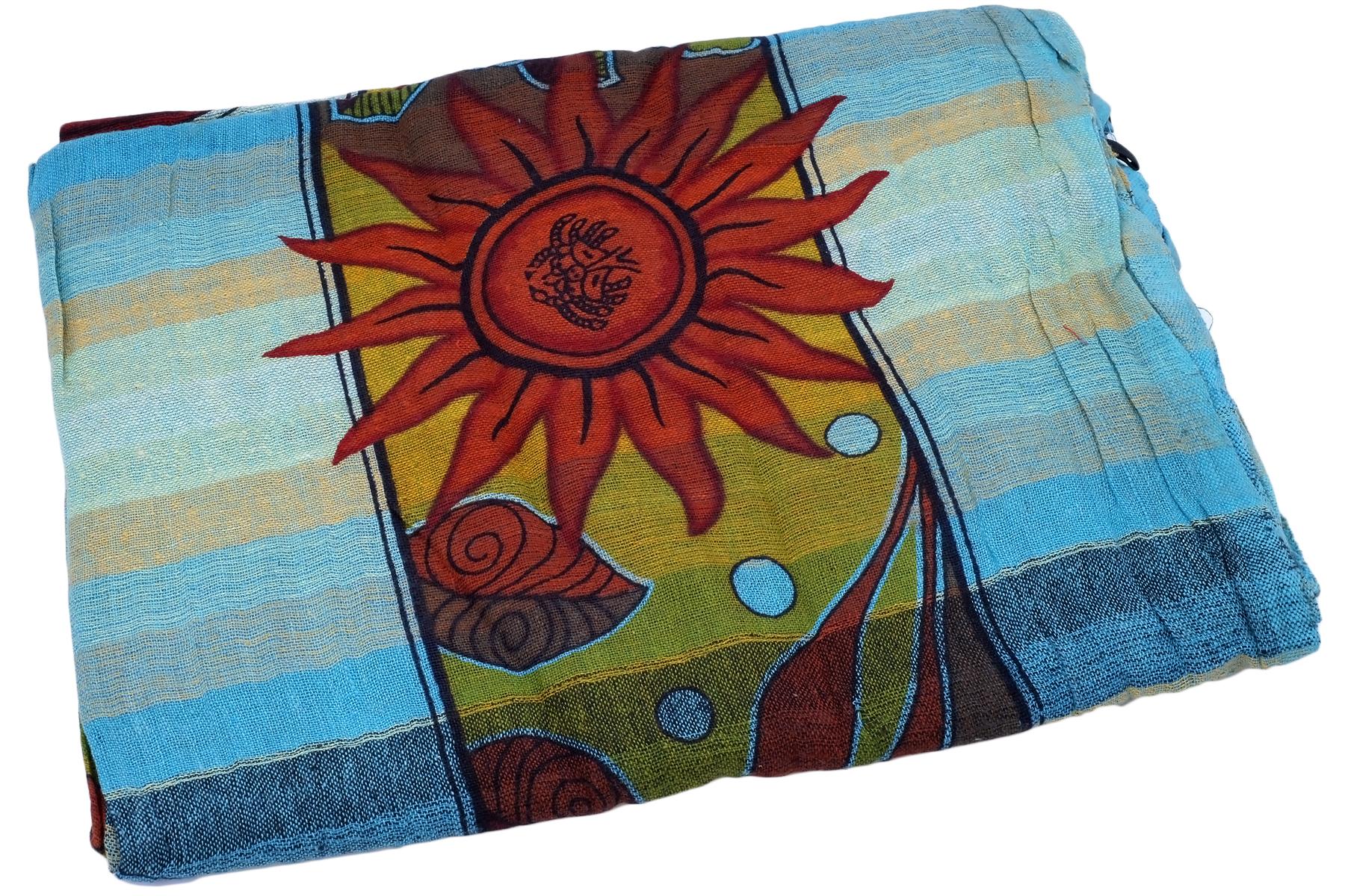 Покрывало Ethnic Chic Покрывало Солнце Цвет: Голубой (104х225 см)