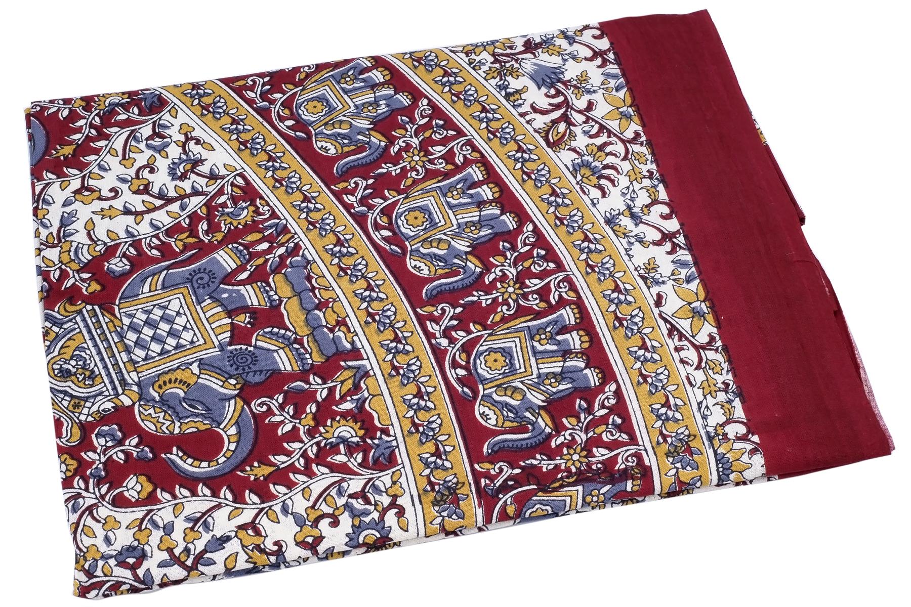 Покрывало Ethnic Chic Покрывало Слоны Цвет: Бежевый, Бордовый (140х225 см)