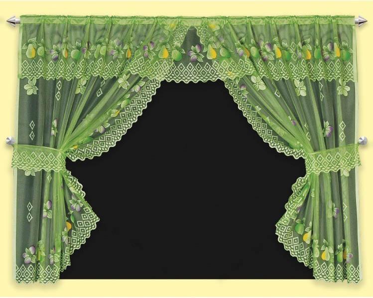 Шторы Haft Шторы с ламбрекеном Clematis Цвет: Зеленый