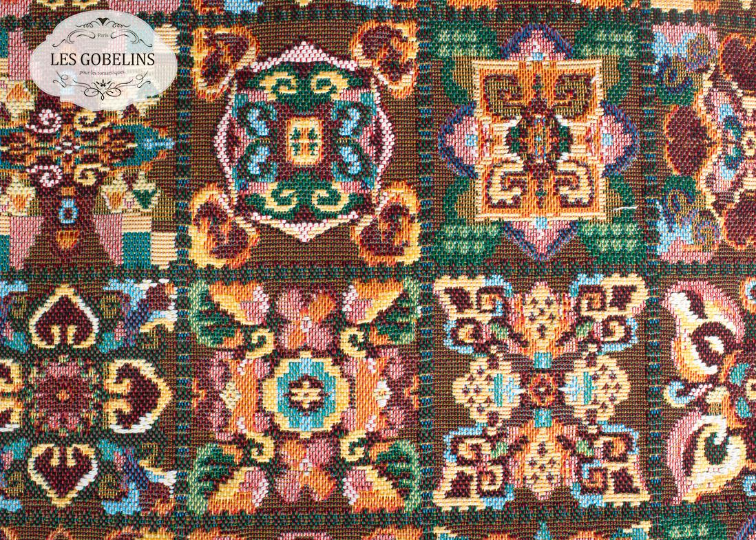 где купить  Покрывало Les Gobelins Накидка на диван Mosaique De Fleurs (130х200 см)  по лучшей цене