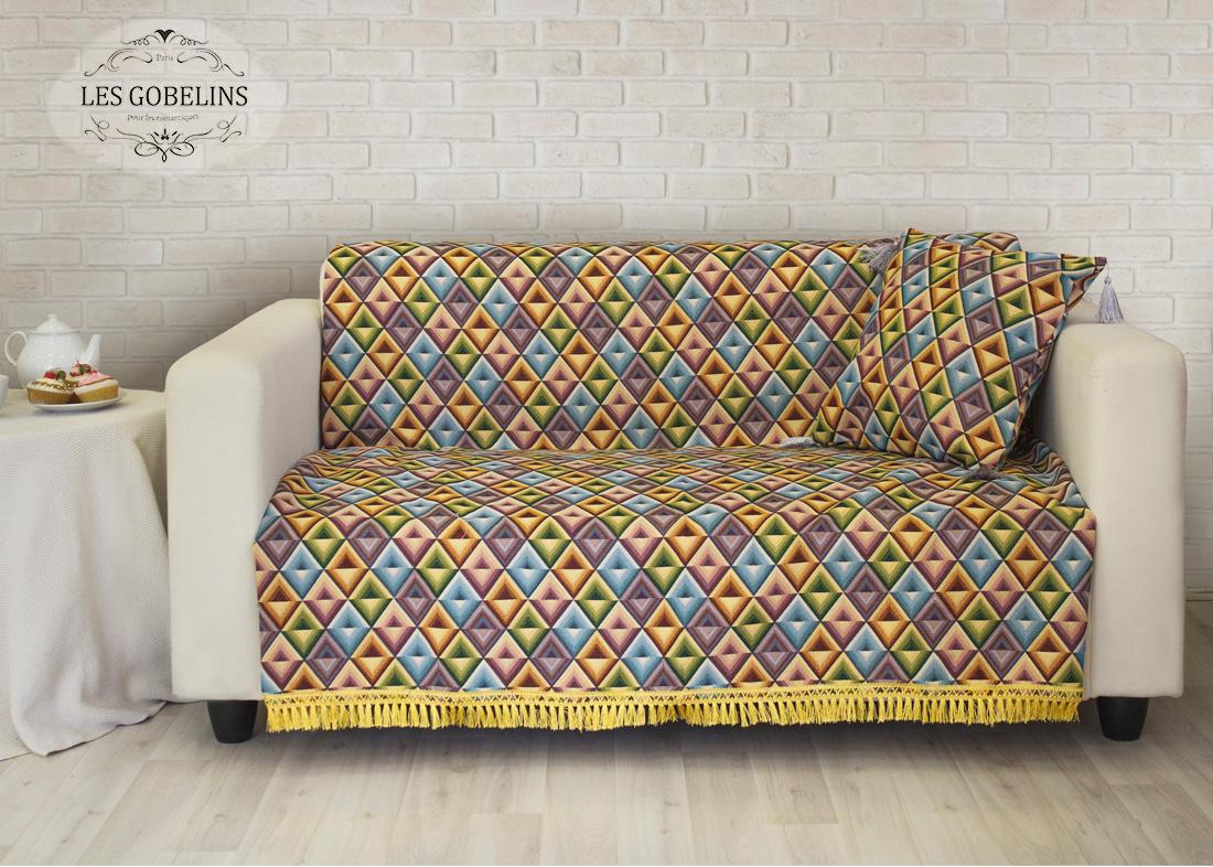 все цены на  Пледы и покрывала Les Gobelins Накидка на диван Kaleidoscope (150х230 см)  в интернете