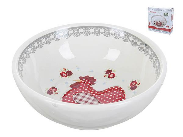 {} ENS GROUP Салатник Красный Петушок (5х16 см) салатник с крышкой ens group танго магнолия 1 6 л