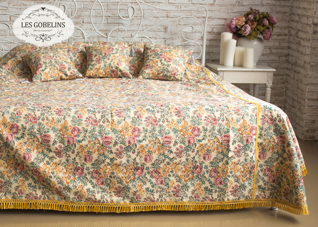 Покрывало на кровать Arrangement De Fleurs (150х220 см) Les Gobelins