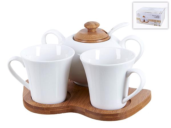 все цены на  {} Best Home Porcelain Чайный набор Naturel (Набор)  онлайн