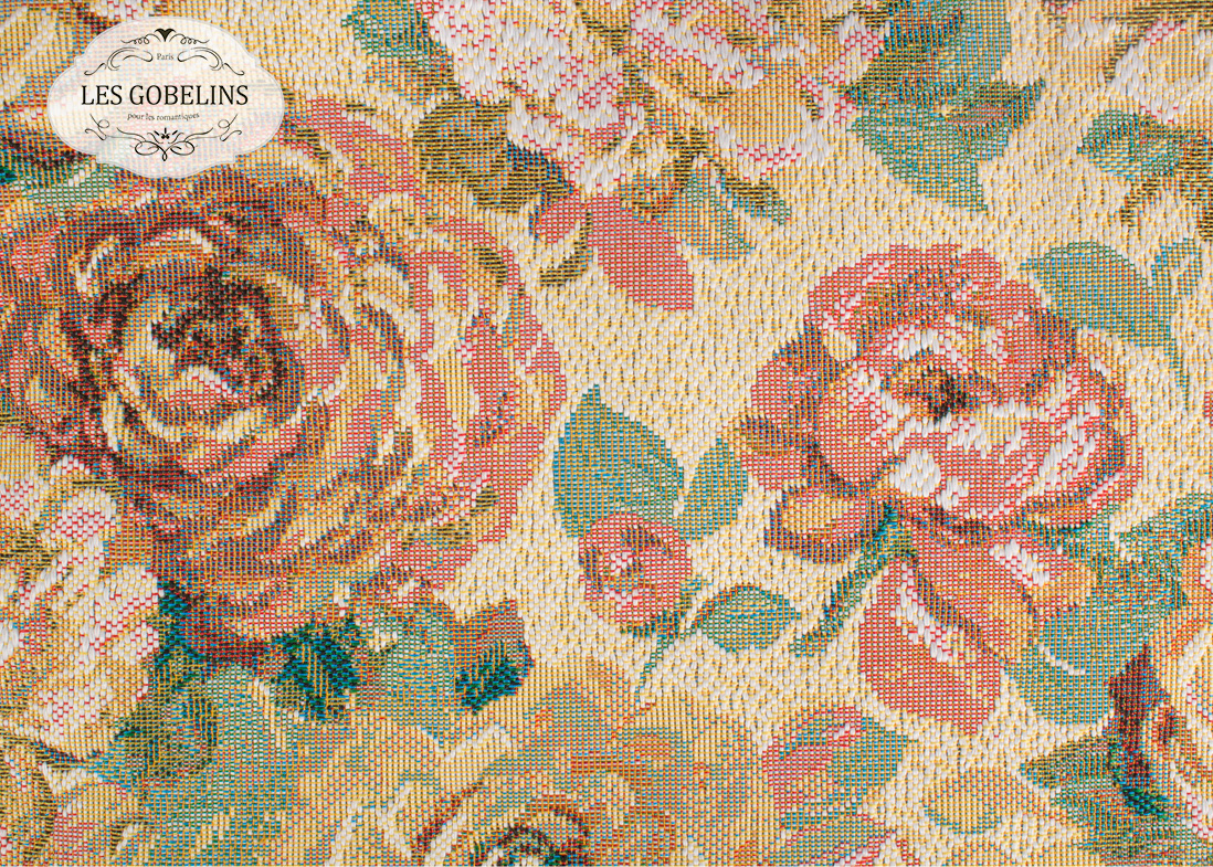 где купить  Покрывало Les Gobelins Накидка на диван Fleurs Hollandais (160х190 см)  по лучшей цене