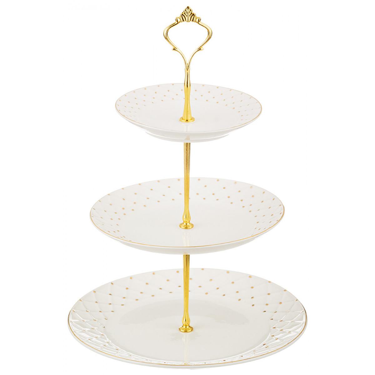 {} Lefard Тарелка-этажерка Bergerac  (25 см) тарелка под пасту 25 5 см royal porcelain тарелка под пасту 25 5 см