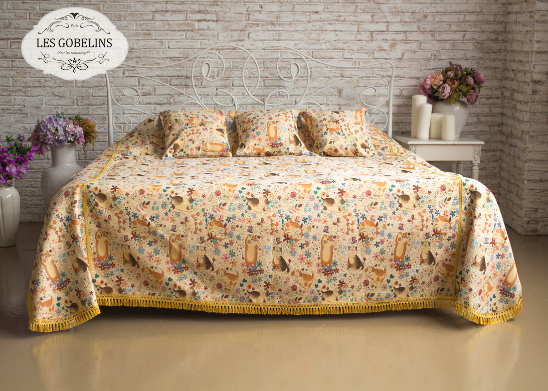 Детские покрывала, подушки, одеяла Les Gobelins Детское Покрывало на кровать Chatons Animes (130х220 см)