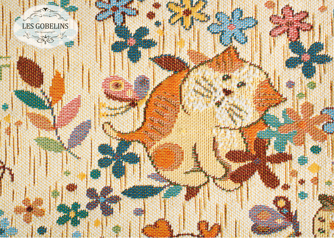 где купить  Детские покрывала, подушки, одеяла Les Gobelins Детская Накидка на диван Chatons Animes (130х230 см)  по лучшей цене