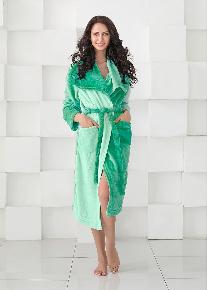 Домашние халаты Sleep iX Домашний халат HomySoft Цвет: Морской (S)