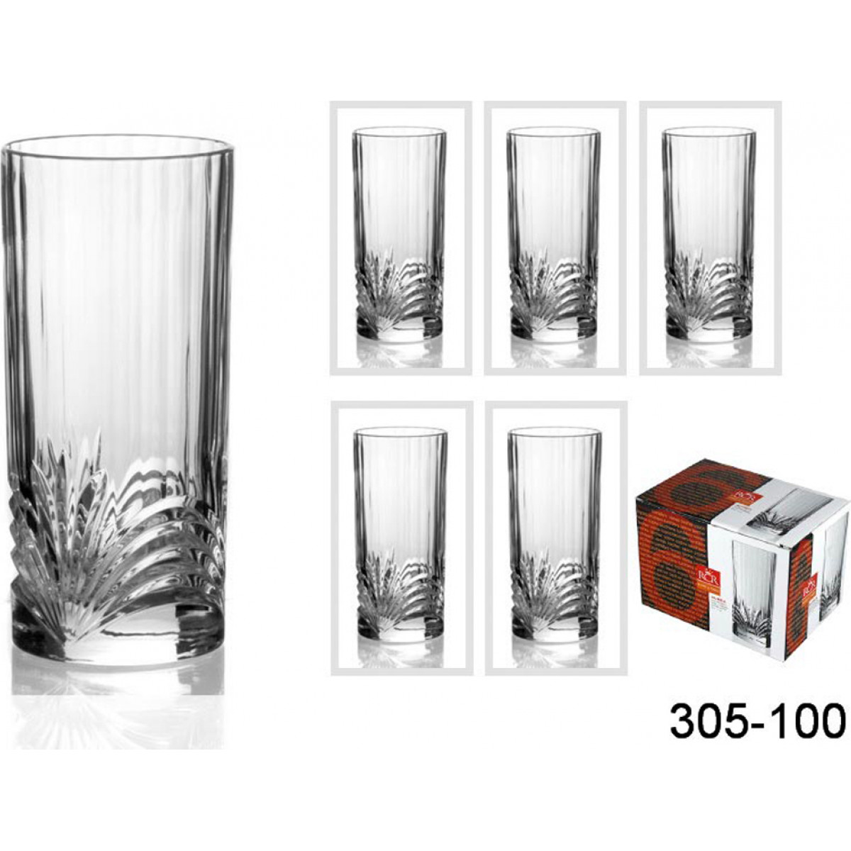 {} RCR Набор стаканов Cristen  (320 мл - 6 шт)
