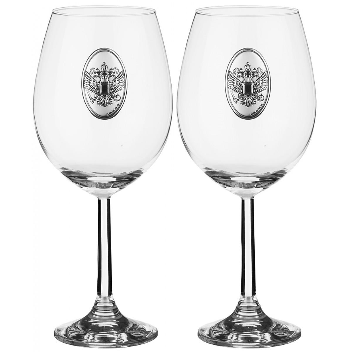 {} Cristalleria Acampora Набор бокалов для вина Becka  (21 см - 2 шт) giftman набор бокалов для молодоженов нежность 21 см авторская работа белый