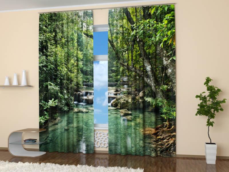 StickButik Фотошторы Лесной Водопад