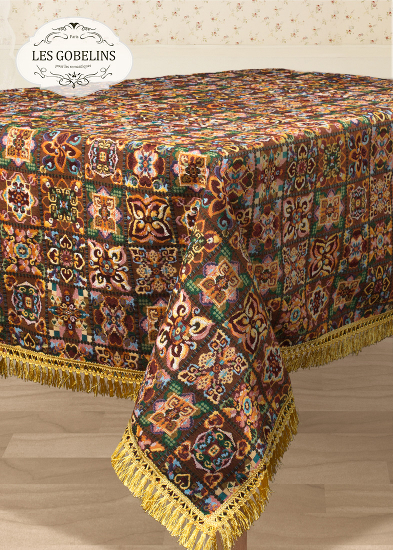 Скатерти и салфетки Les Gobelins Скатерть Mosaique De Fleurs (140х300 см)