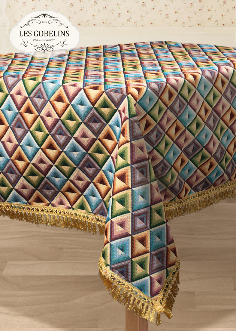Скатерти и салфетки Les Gobelins Скатерть Kaleidoscope (130х190 см) les gobelins les gobelins kaleidoscope 190 190