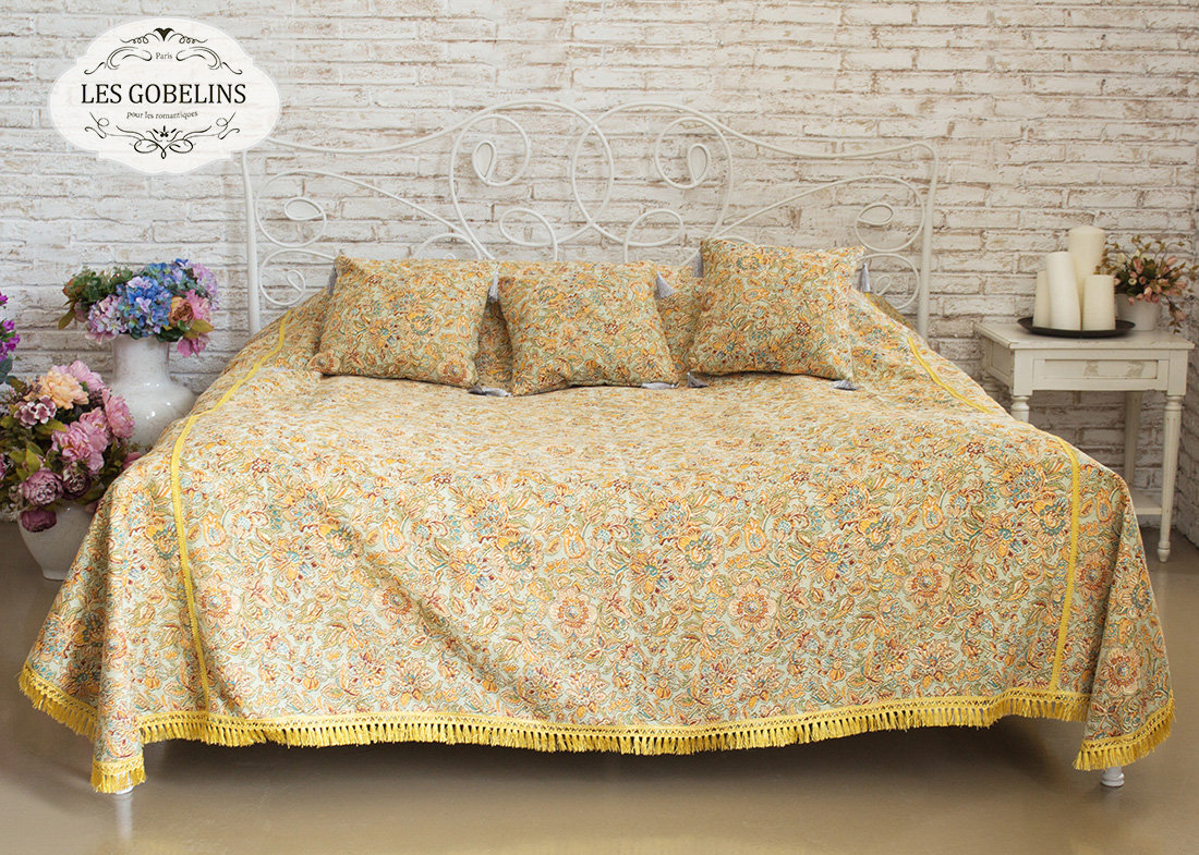 где купить  Покрывало Les Gobelins Покрывало на кровать Vitrail De Printemps (130х220 см)  по лучшей цене