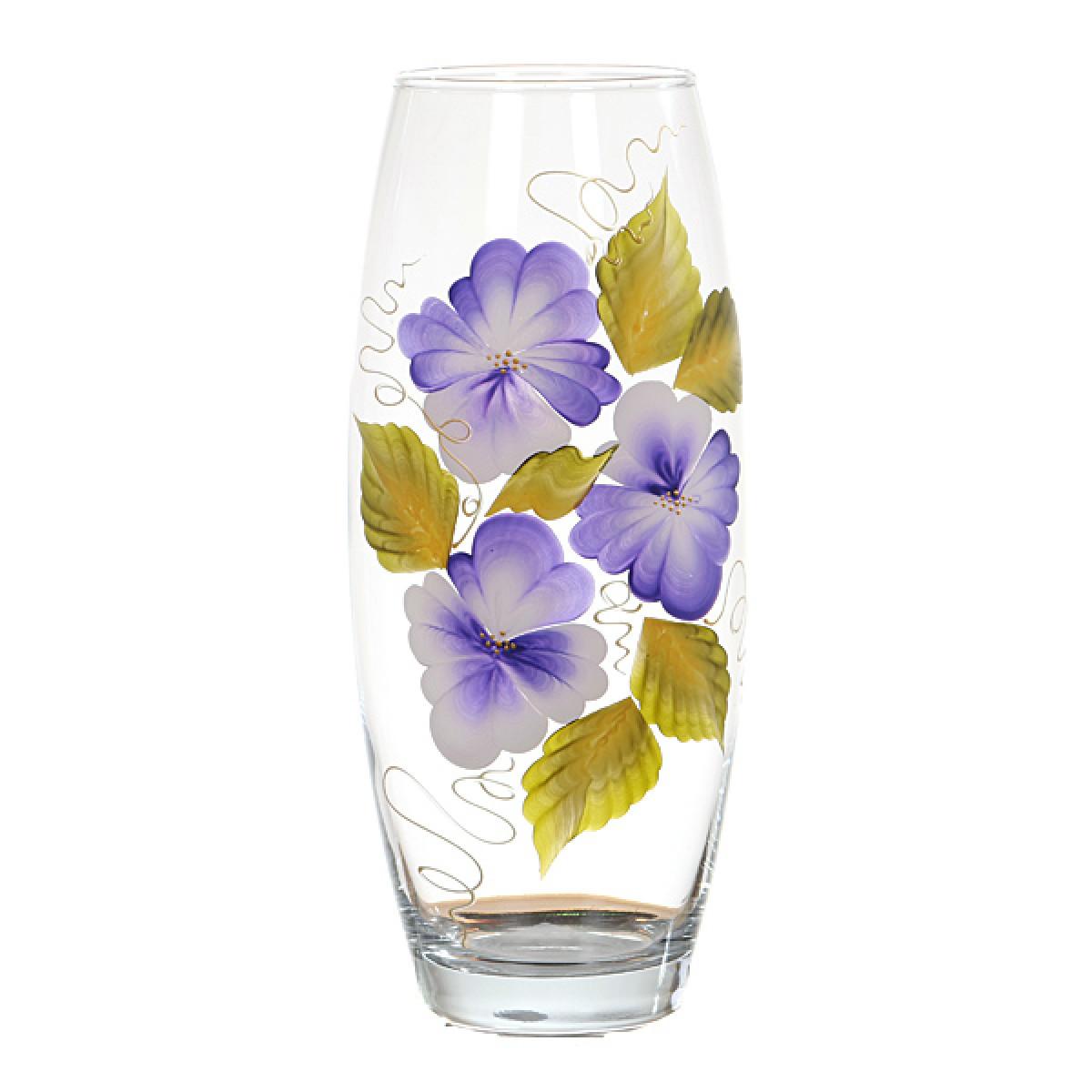 Прозрачная ваза с цветами