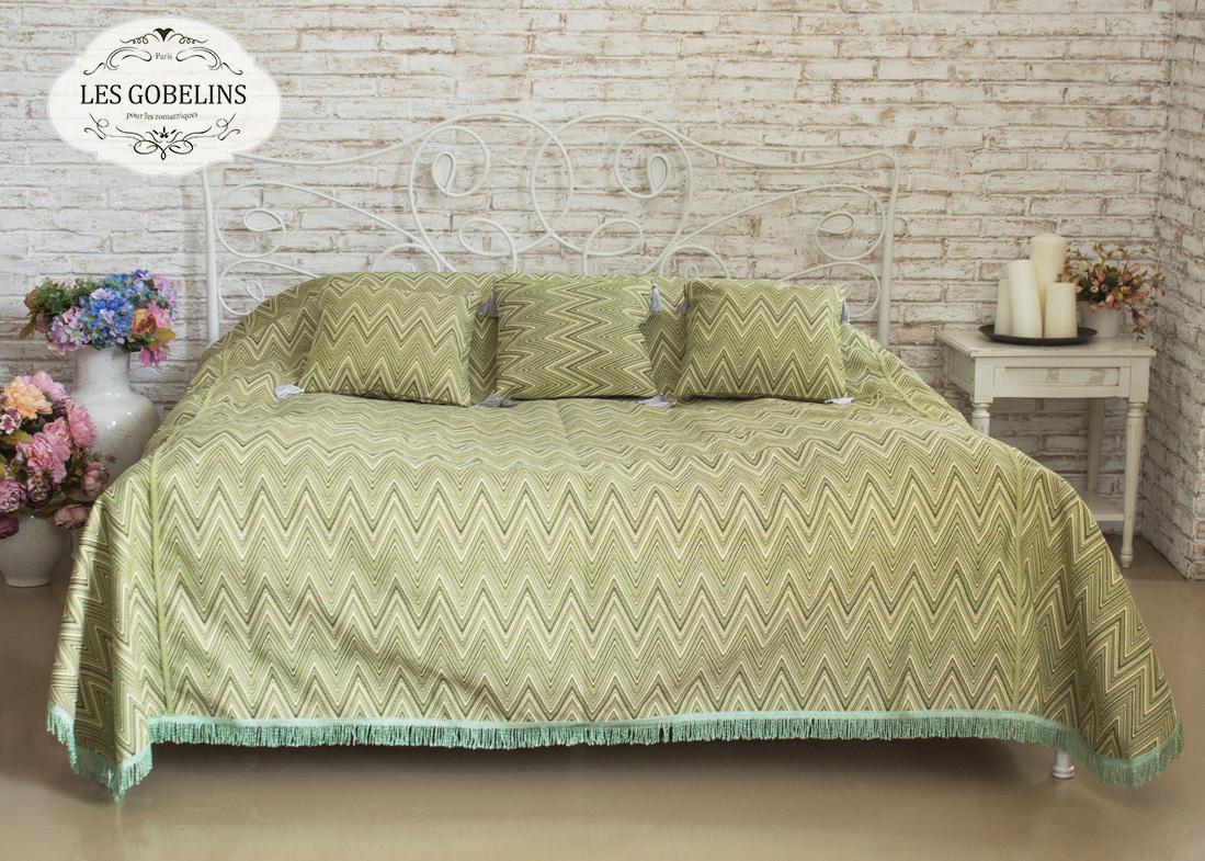 где купить  Покрывало Les Gobelins Покрывало на кровать Zigzag (210х220 см)  по лучшей цене