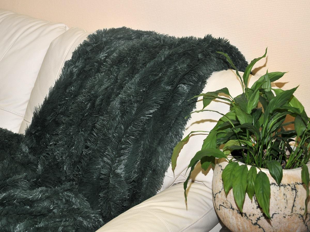 где купить Плед Cleo Плед Конфетти Цвет: Темно-Зеленый (220х240 см) по лучшей цене