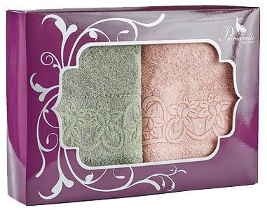 Полотенца Primavelle Полотенце Deni Цвет: Чайная Роза+Зеленый Чай (50х90 см - 2 шт ) набор полотенец primavelle deni 50x90 2 шт
