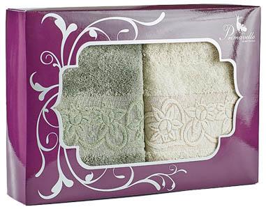 Полотенца Primavelle Полотенце Deni Цвет: Зеленый чай+Слоновая Кость (50х90 см - 2 шт ) набор полотенец primavelle deni 50x90 2 шт