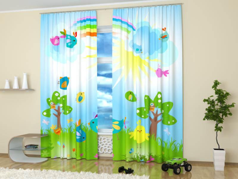 Идеи шторы в детскую
