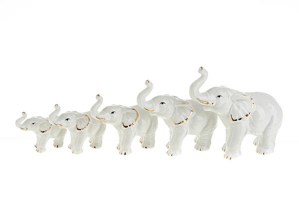 {} ENS GROUP Набор фигурок Белые Слоны (Набор)