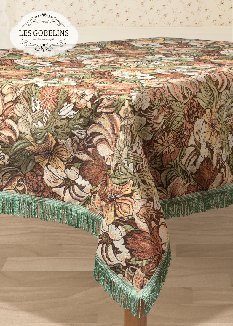 Скатерти и салфетки Les Gobelins Скатерть Art Nouveau Lily (160х230 см) покрывало на диван les gobelins art nouveau lily 160 х 230 см