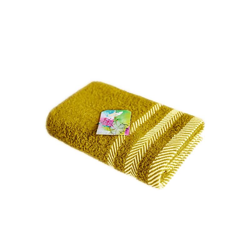 Полотенца Василиса Полотенце Фишбоун Цвет: Горчица (70х130 см)