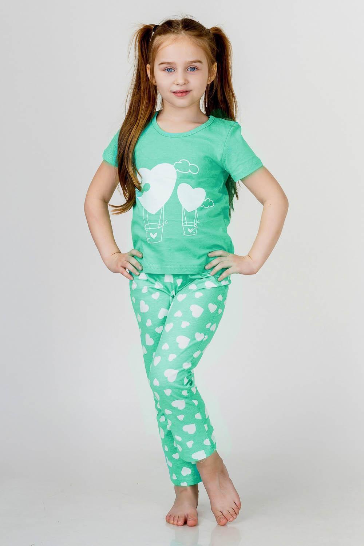 Детские пижамы Pastilla Детская пижама Стелла Цвет: Ментол (7 лет) детские пижамы pastilla детская пижама радуга цвет розовый 6 лет