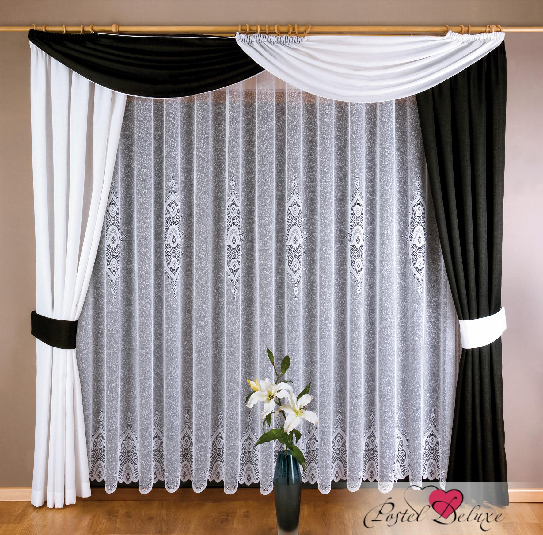 Дизайн штор в черно-белых тонах фото