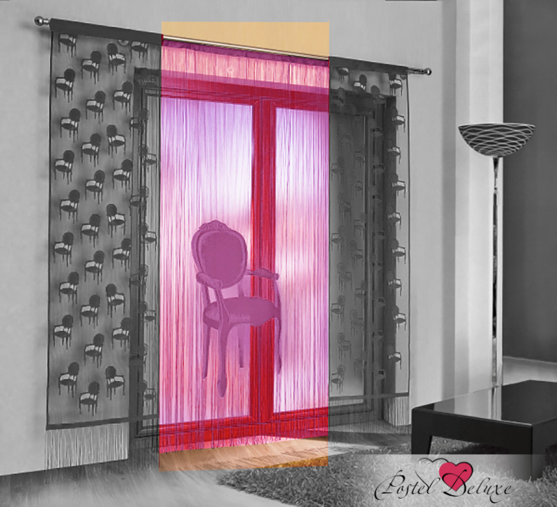 Шторы Wisan Нитяные шторы Кресло Цвет: Розовый wisan wisan нитяные шторы joelle цвет кремовый бежевый