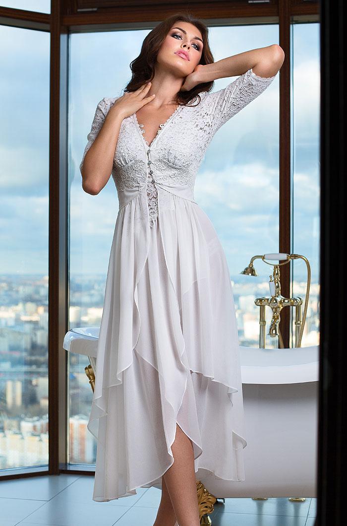 цена на Домашние халаты Mia-Mia Домашний халат Venera Цвет: Белый (M)