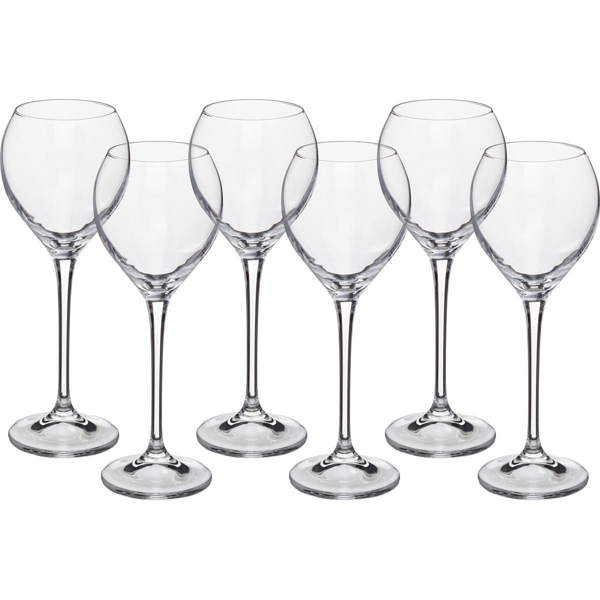 {} Crystalite Bohemia Набор бокалов для вина Nirvana  (21 см - 6 шт) giftman набор бокалов для молодоженов нежность 21 см авторская работа белый