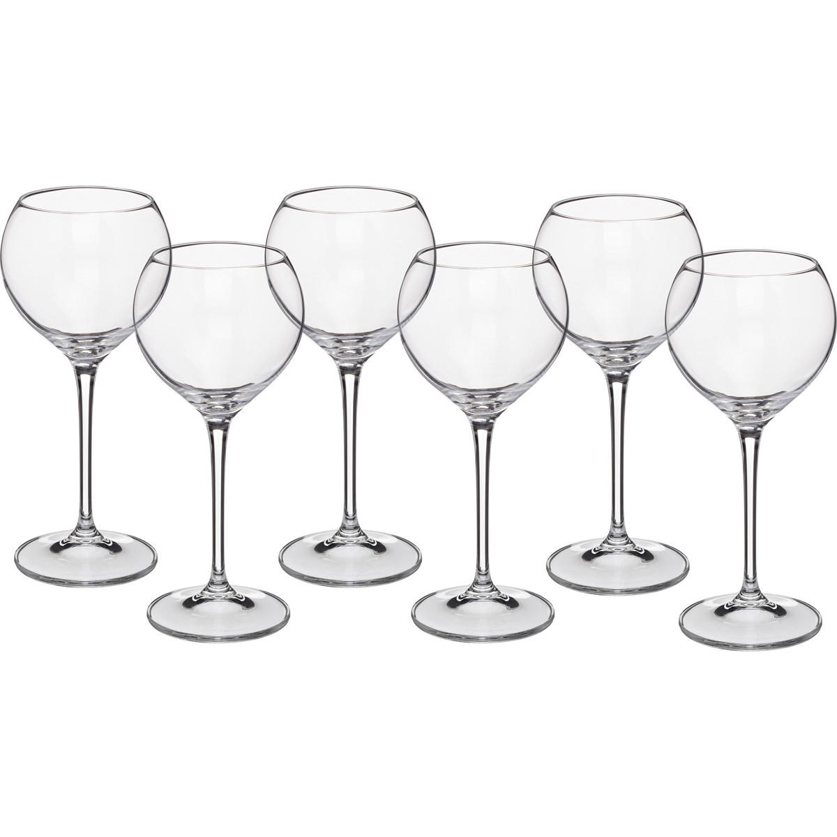 {} Crystalite Bohemia Набор бокалов для вина Angellina  (21 см - 6 шт) giftman набор бокалов для молодоженов нежность 21 см авторская работа белый