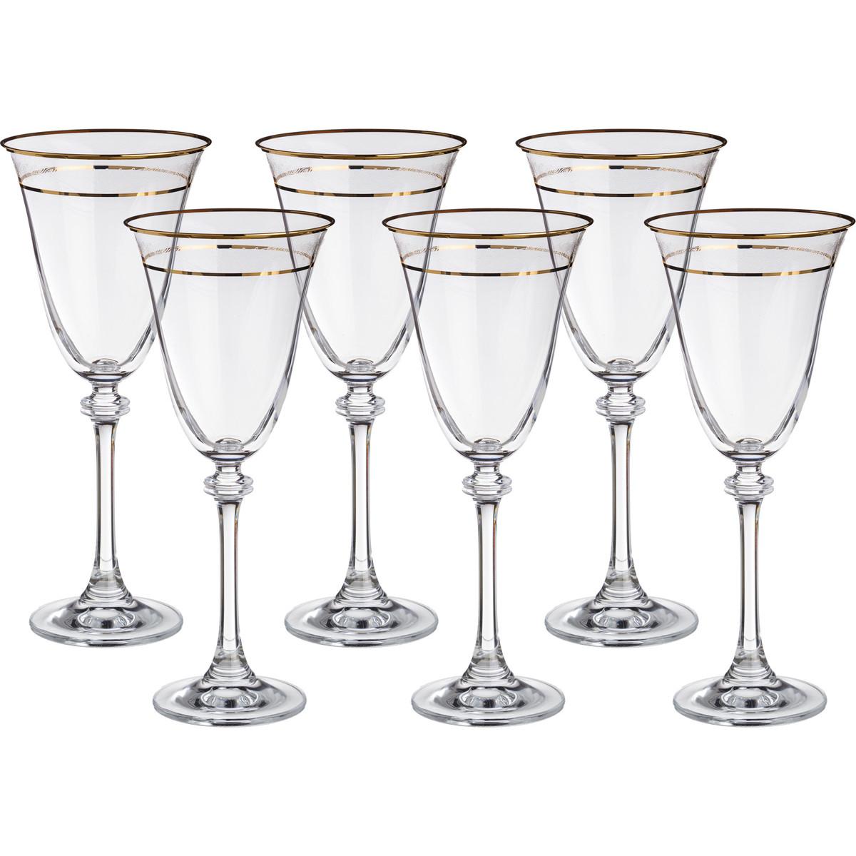 {} Crystalite Bohemia Набор бокалов для вина Daryl  (21 см - 6 шт) giftman набор бокалов для молодоженов нежность 21 см авторская работа белый