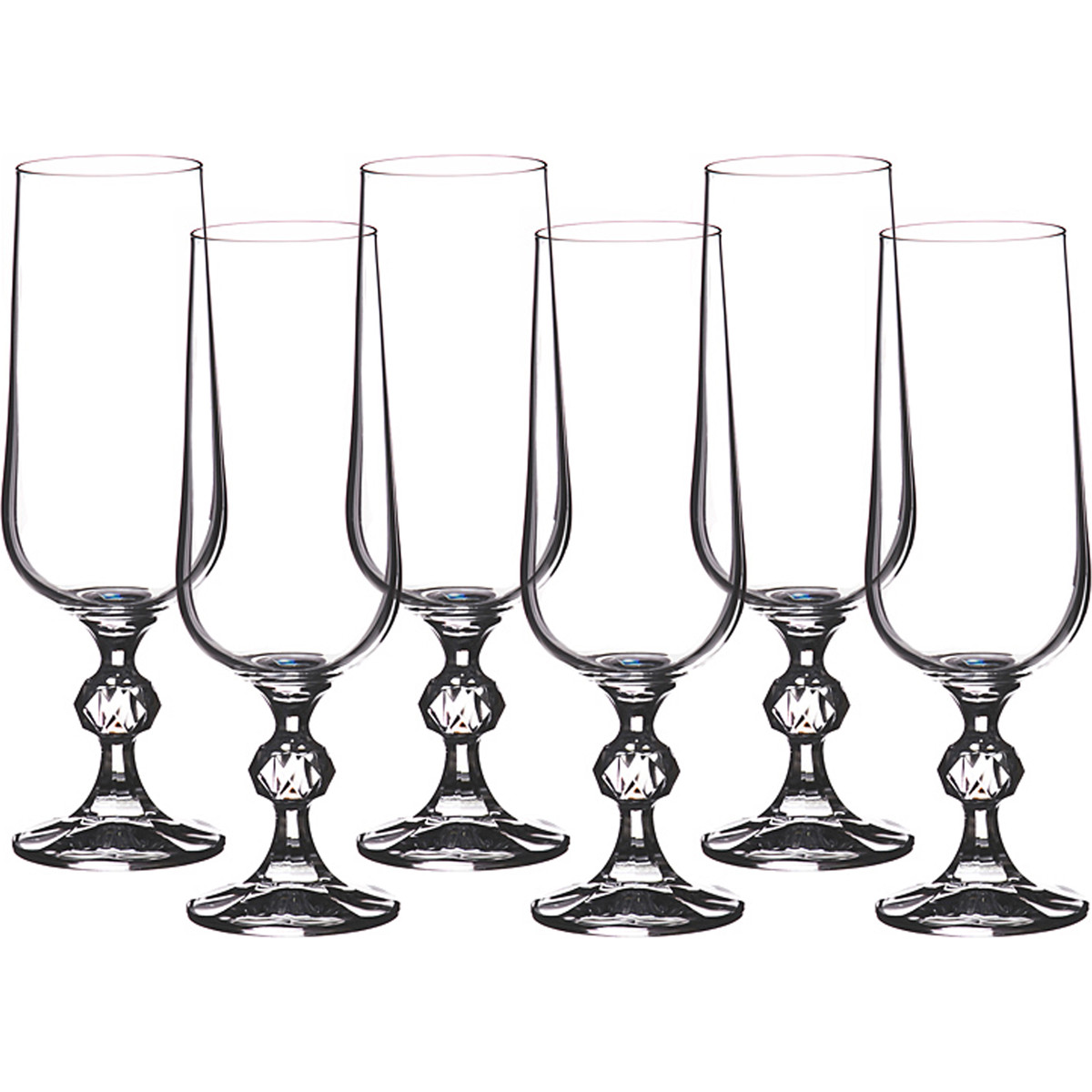 {} Crystalite Bohemia Набор бокалов для шампанского Moyna  (17 см - 6 шт)