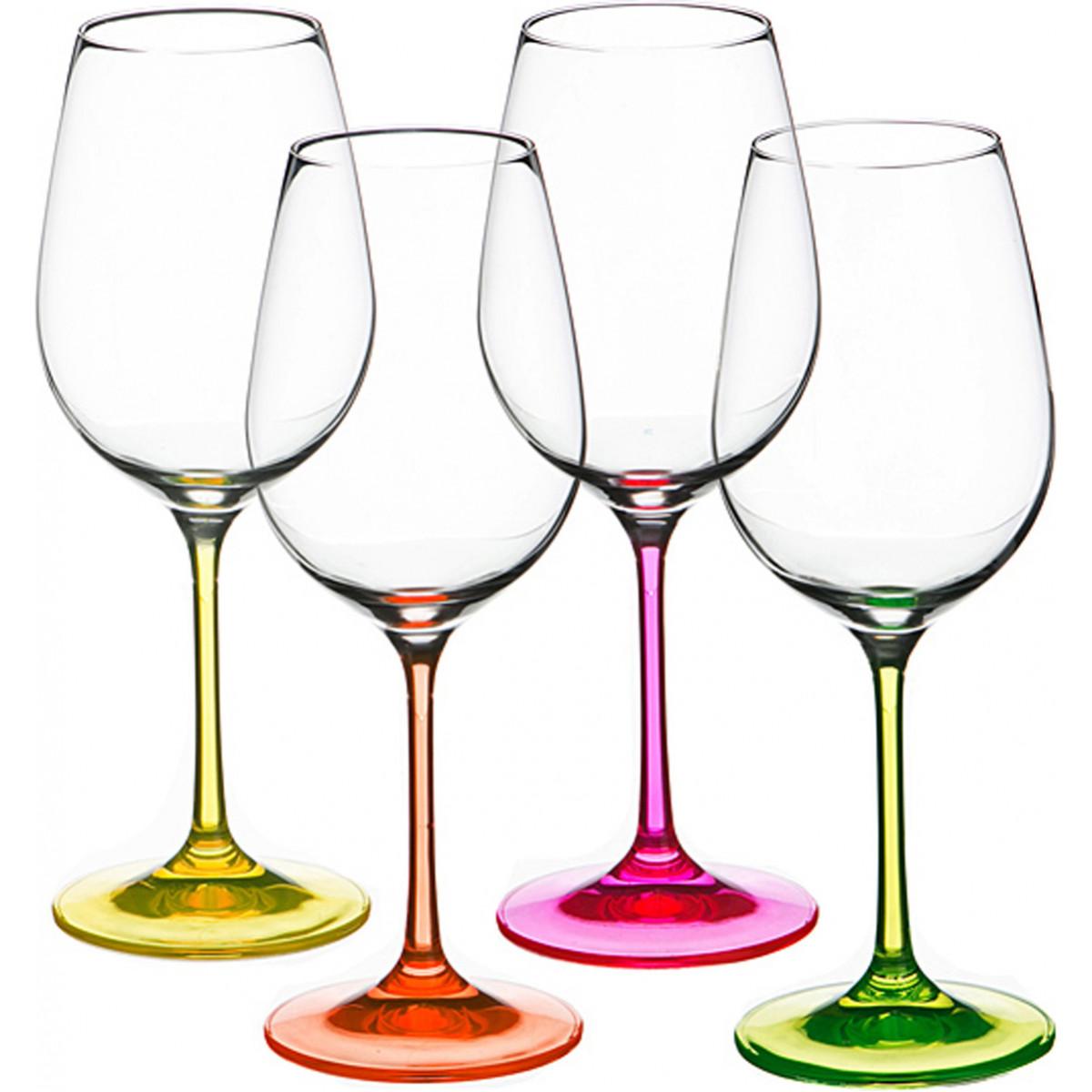{} Bohemia Crystal Набор бокалов для вина Alma  (22 см - 4 шт) набор для кофе crystal bohemia mokko 4 предмета