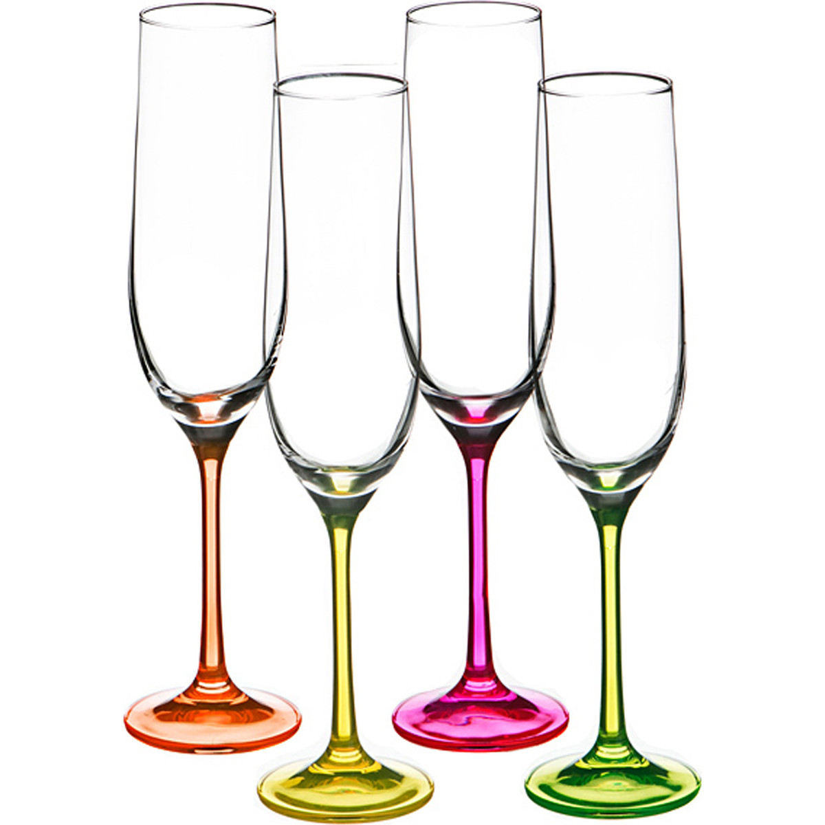 {} Bohemia Crystal Набор бокалов для шампанского Cedar  (24 см - 4 шт) набор для кофе crystal bohemia mokko 4 предмета